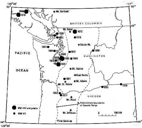 map of oregon washington border the big one curriculum