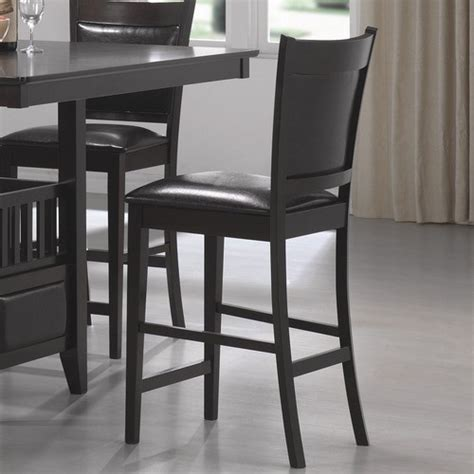 modern bar stools counter height forsan counter height barstool in cappuccino set of 2