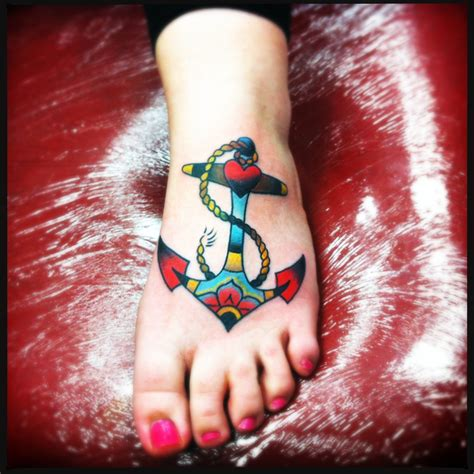 anchor foot tattoos anchor tattoos designs ideas and meaning tattoos for you