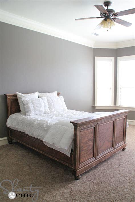 diy queen bed diy woodworking queen bed shanty 2 chic
