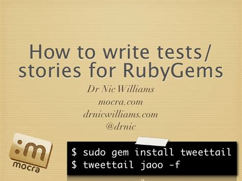 rubygems ruby how to write a gem stack overflow how to write tests stories for ruby gems jaoo 2009