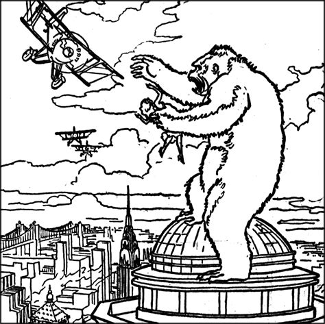 coloring pages king kong the collinsport historical society the morgue king kong
