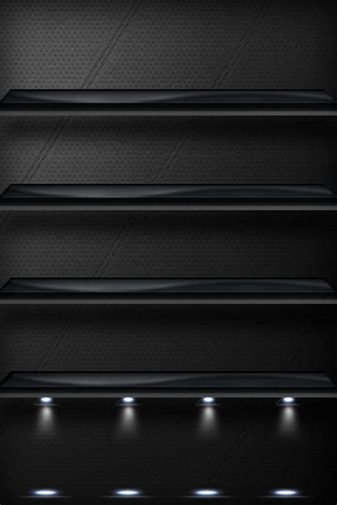 Iphone Shelf Wallpapers by Black Background Shelf For Iphone