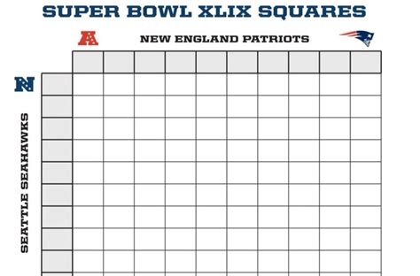 search results for super bowl square template 2015