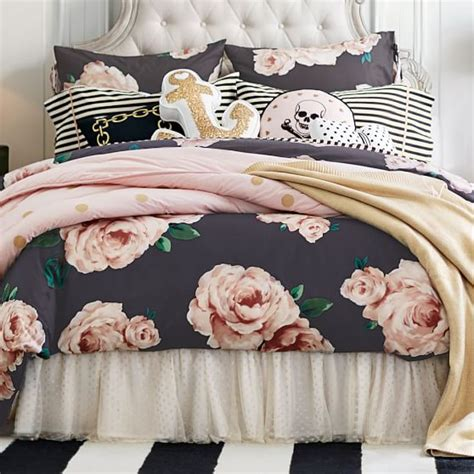 what is a sham for a bed the emily meritt bed of roses duvet cover sham black