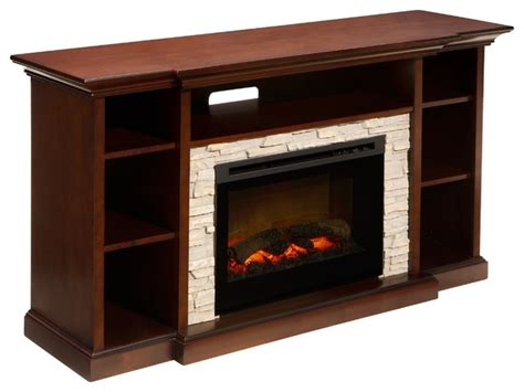 merrick tv console w electric fireplace transitional