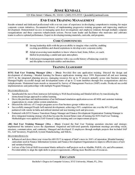 Training Manager Resume ? Free Resume Templates