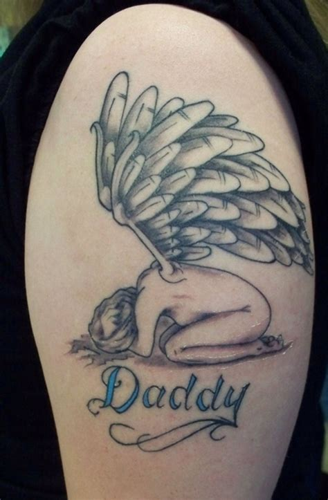 dad angel tattoo designs unique ideas on arm and tattoos