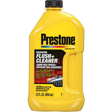 Prestone Radiator Flush Cleaner 2in1 Light Flushing And Heavy Duty flush transmission fluid as engine flush free engine image for user manual