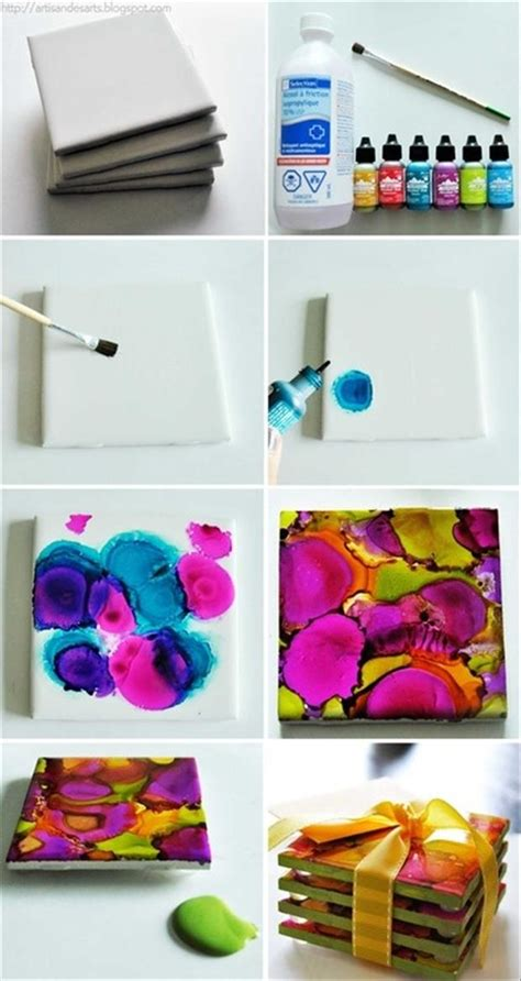 tile craft fun do it yourself craft ideas 45 pics
