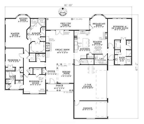 house plans with inlaw quarters in quarters archives houseplans
