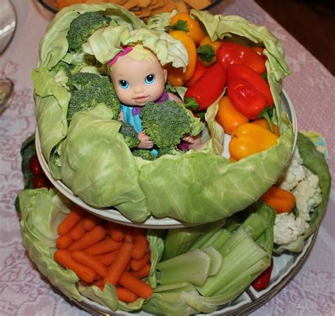 vegetable tray for baby shower cabbge patch veggie tray baby shower ideas