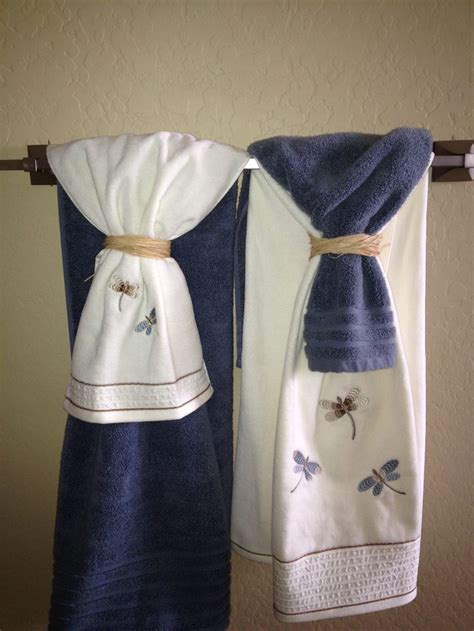 bathroom towel designs towel display 17031
