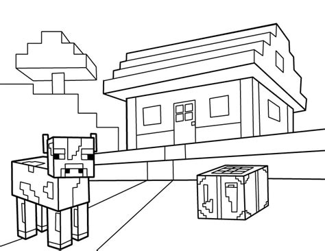 minecraft coloring pages cow 40 printable minecraft coloring pages