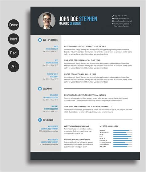 photo templates free best 25 free cv template ideas on cv design