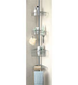 Bathtub Shower Caddy Stainless Tension Pole Shower Caddy In Shower Caddies