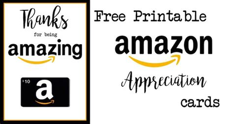 Easy Free Amazon Gift Cards - free printable teacher thank you cards ideas paper trail design