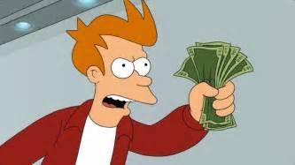 shut up and take my money birthday card fry s jacket filmgarb
