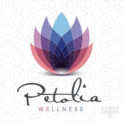 lotus flower logos sold logo petolia wellness stocklogos