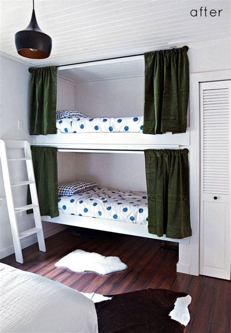 curtains for bunk beds diy built in bunk bed curtains great way to have privacy
