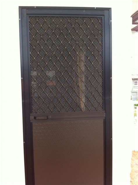Screen Door Glass Single Swing Type Screen Door On Alcoframe Profile