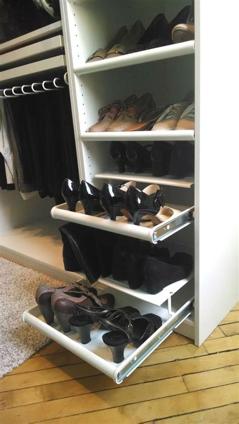 Komplement Slide Out Rack by Komplement Pull Out Shoe Shelf White Footwear Closet