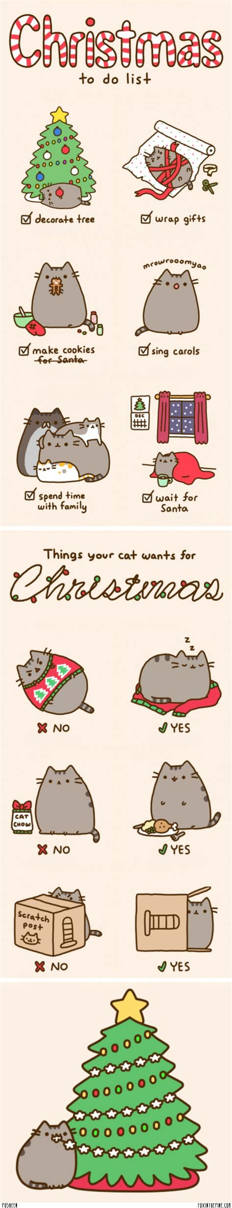 pusheen cat christmas to do list 17 best images about pusheen kitty on pinterest cats