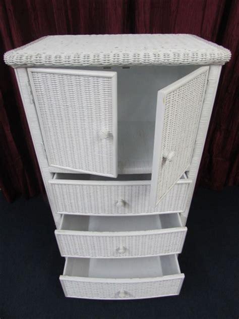 White Wicker Armoire lot detail white wicker armoire 30 5 quot wide x 50 5 quot