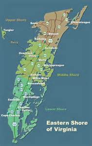 Virginia Tourism Map by Where To Stay On The Eastern Shore Of Virginia