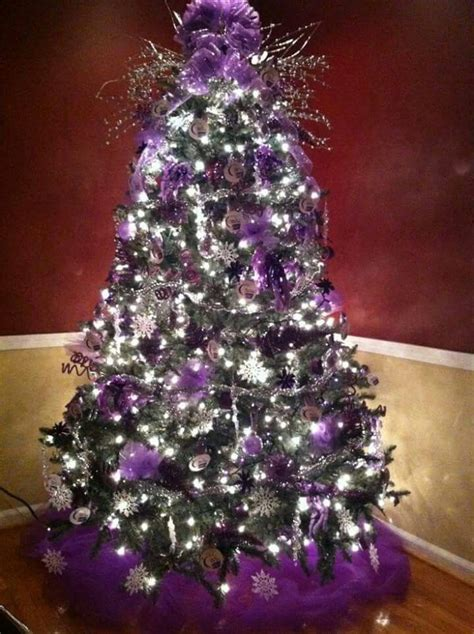 purple and silver christmas tree holidays pinterest