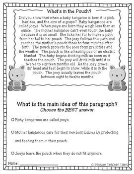 10 Best Images Of 5th Grade Main Idea And Detail
