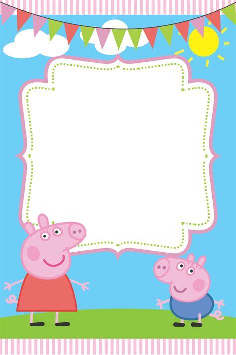 Blank Peppa Pig Invitation Peppa Pig Party Pinterest Peppa Pig Invitations Peppa Pig Peppa Pig Template