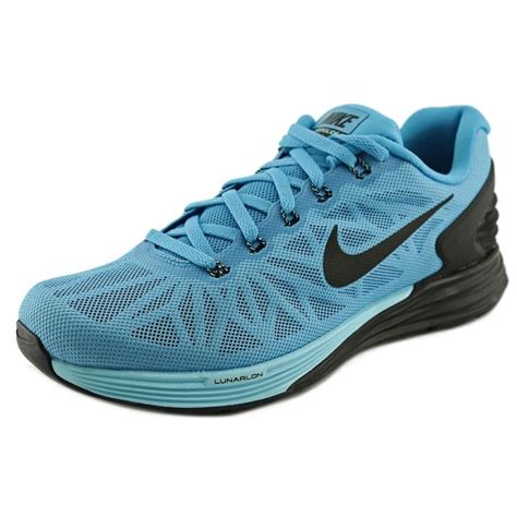athletic running shoes nike lunarglide 6 mesh blue running shoe athletic