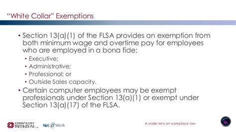 section 13 a 1 of the flsa new overtime rules the official changes to the flsa white