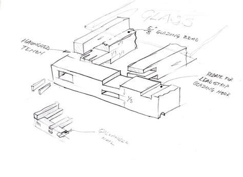 sketchbook joint on the subject of sash windows card structure modelling