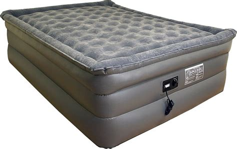 airtek king size air bed airbed plush pillow top mattress with built in pvc ebay