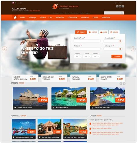 35 best hotel website templates free premium web