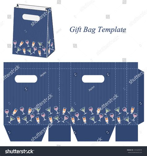 wine bag template images templates design ideas