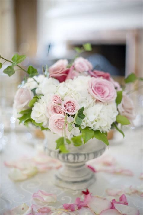 pink white rose centerpieces the sweetest occasion the