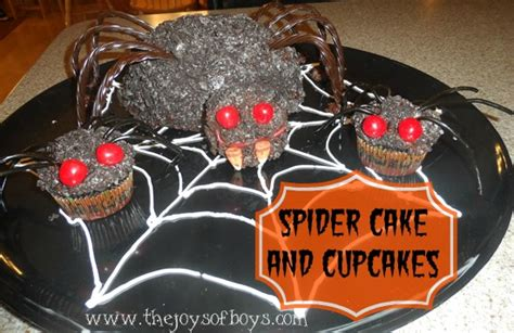 Easy Spider Cake and Cupcakes   The Joys of Boys