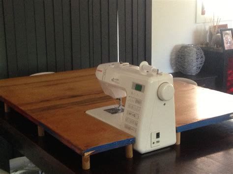Diy Sewing Machine Extension Table Sew Craft Tierra Este Diy Sewing Desk