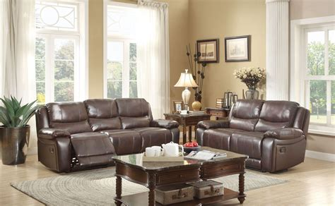 reclining living room set allenwood dark brown double reclining living room set from