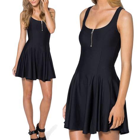 designer inspired colorful matte skater dress casual style vintage matte evil dress black dress