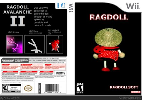 ragdoll avalanche ragdoll avalanche ii wii box cover by richie