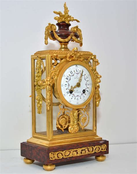 unusual clocks unusual crystal and marble mantel clock at 1stdibs
