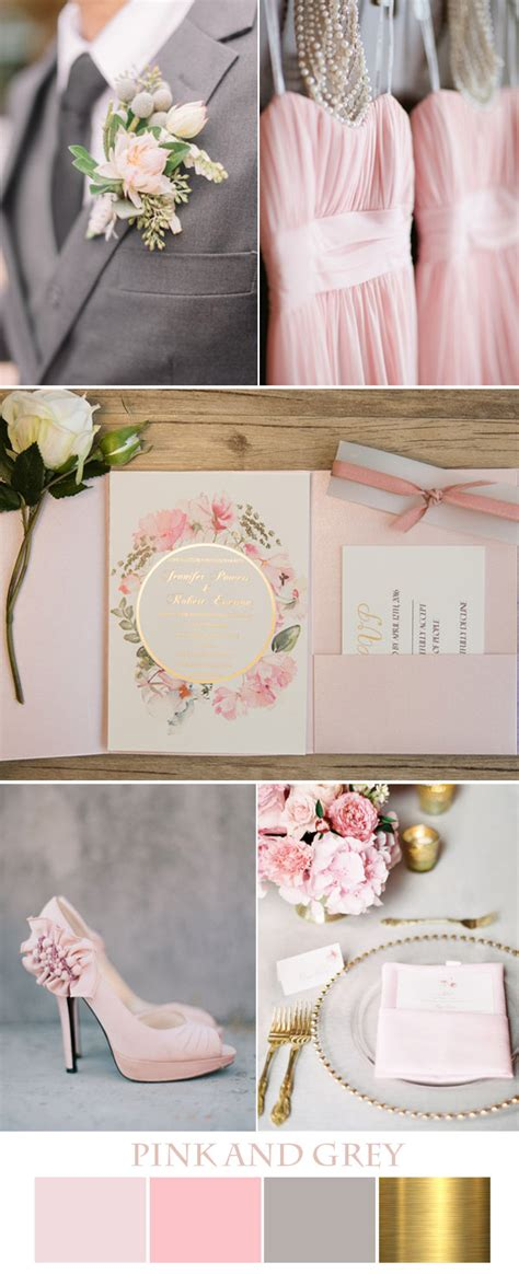 pink and grey color scheme seven gorgeous pink wedding colors and invitations in