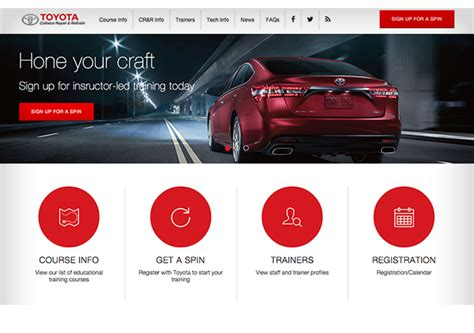toyota website toyota collision repair refinish website liehr