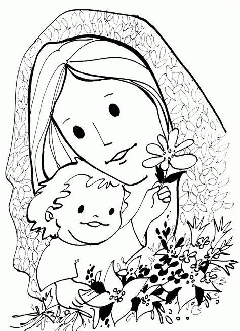 imagenes religiosas hechas a lapiz dibujos de la virgen mar 237 a para colorear