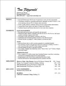 Sales Professional Resume Exles by Professional Resume Exle Learn From Professional