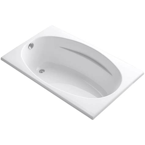 bathtub drain home depot kohler proflex 5 ft reversible drain bathtub in white k